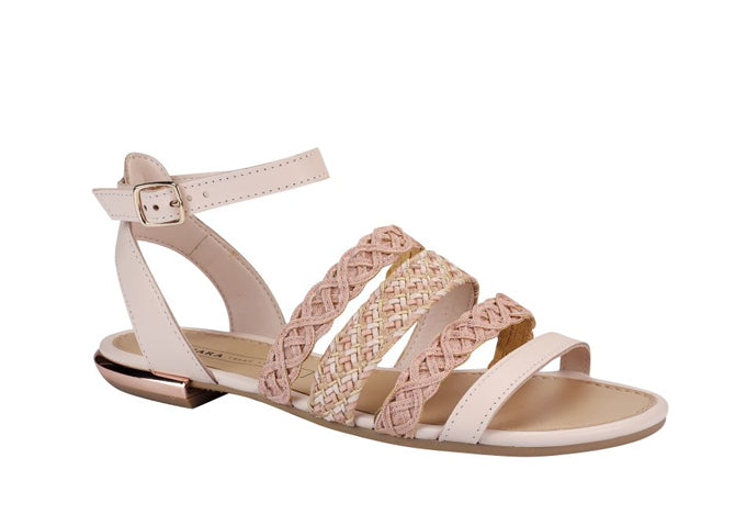 Ailin Peach Flat Sandals T1768