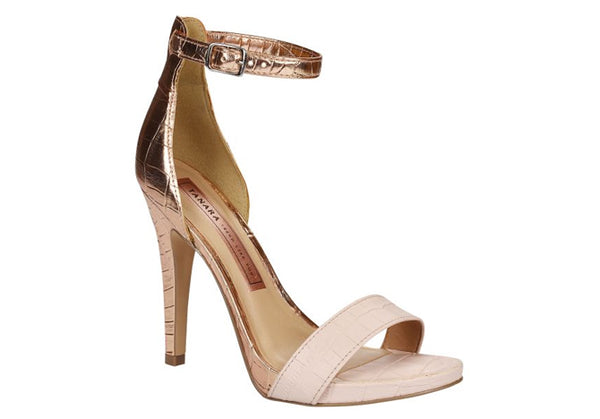 Port Cream Rose Gold High Heels T1705