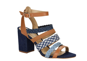 Medium Heel Ailin Jeans Sandals T1627