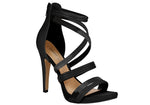 Ailin Black High Heel Sandals T1702