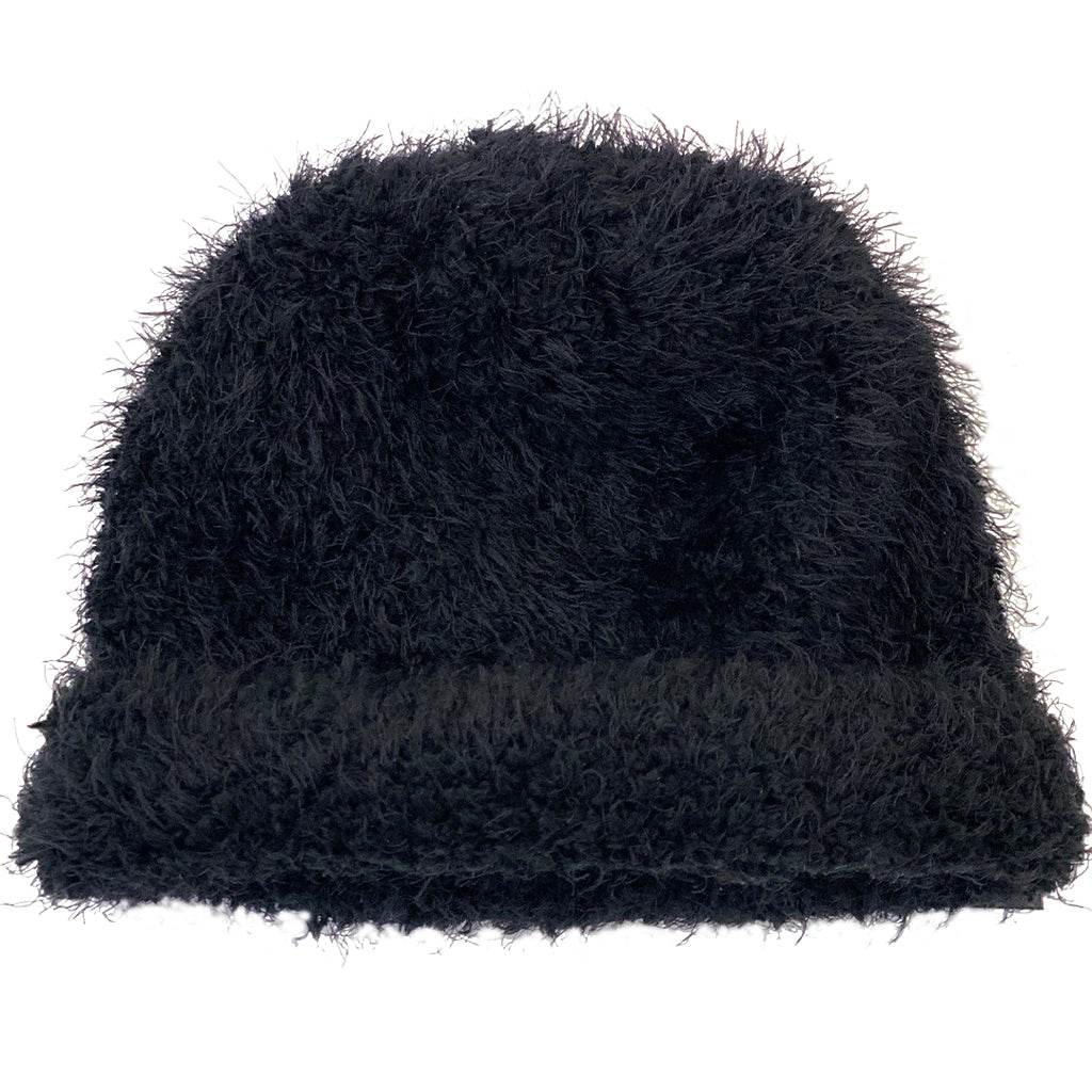 Black Knit Cashmere Hat