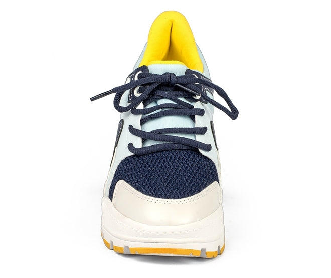 Ariana Blue and Yellow Platform Sneaker