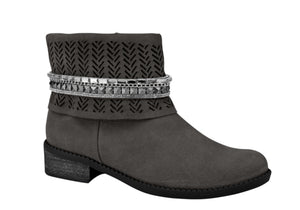Grey Suede Short Boots T1243