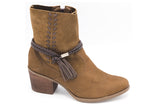 Brown Booties T0942A