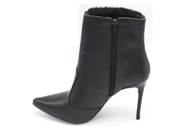 Pony Hair Black Boots