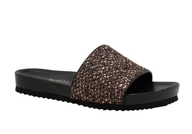 SLIP ON SANDAL BRONZE