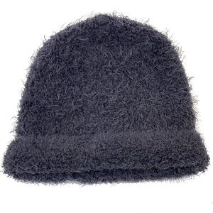Grey Knit Cashmere Hat
