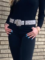 Bri Snake Leather Belt