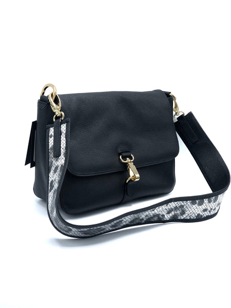 BLACK CROSSBODY BAG DS 2885