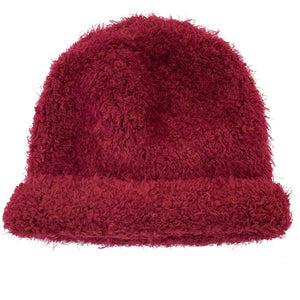 Maroon Knit Cashmere Hat