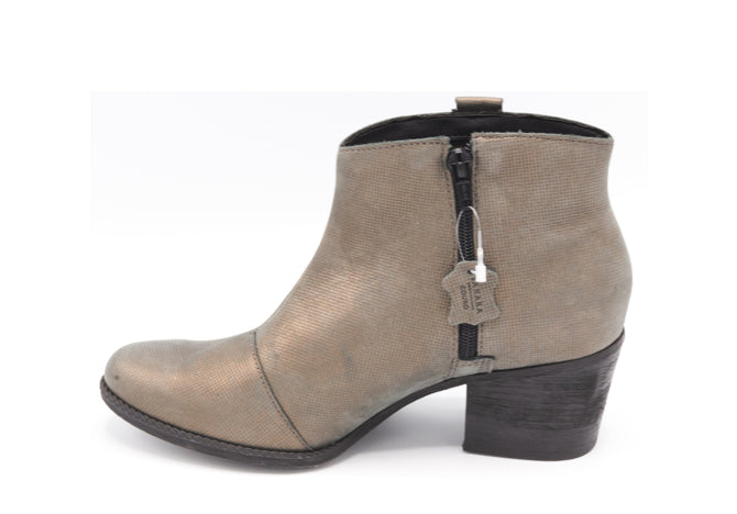 Bronze Ankle Booties T0943A