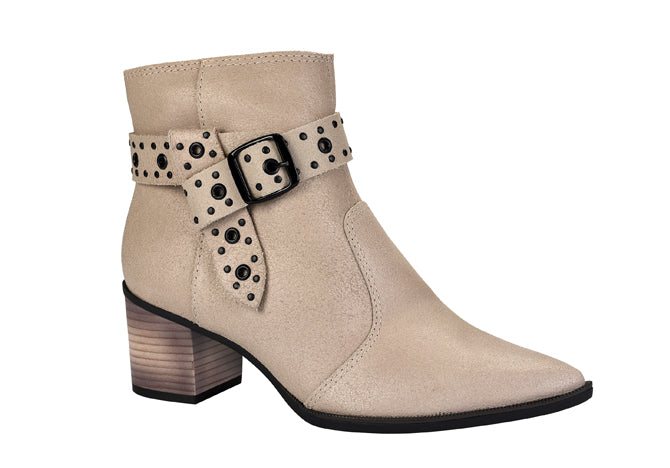 Nude Pointy toe suede ankle bootie | Short Boots for Women