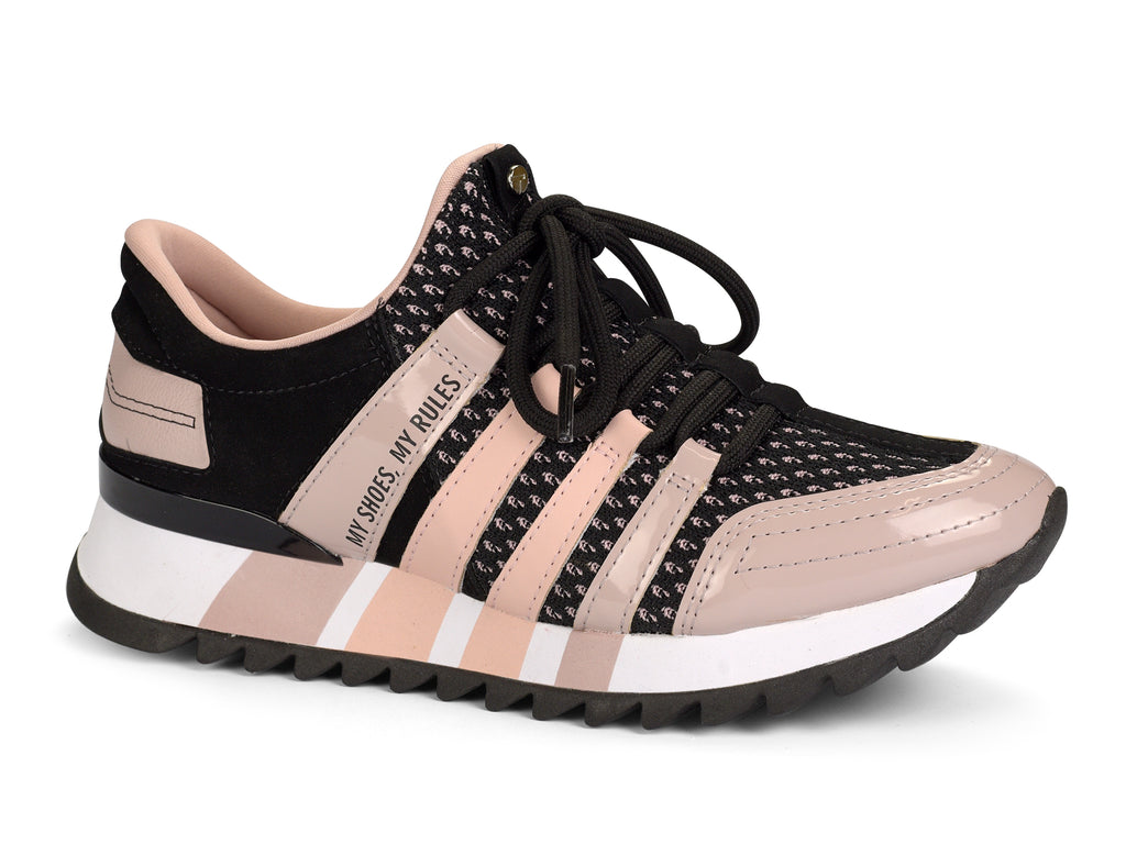 Blush and Black Sneaker| Women Sneakers