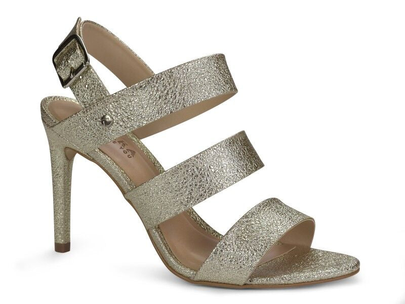 High Heel Strappy Metallic Sandal | Women's High Heel Shoes