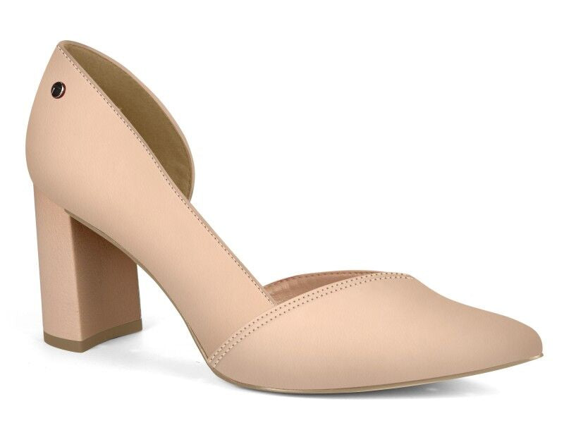 Pink Pointed Toe Heels | Block Heel | Women's Heel