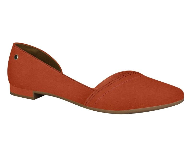 Orange Suede Ballerina Flat | Women's Flats