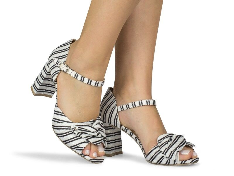 Galia Striped  Sandal
