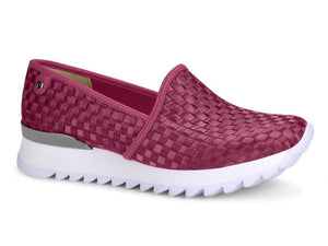 Knit Hot Pink Sneaker I Women's Slip Ons