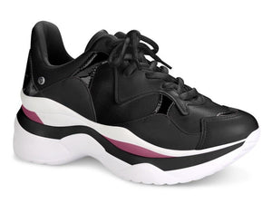 Black Triple-Stacked Sneaker I Women's Sneaker