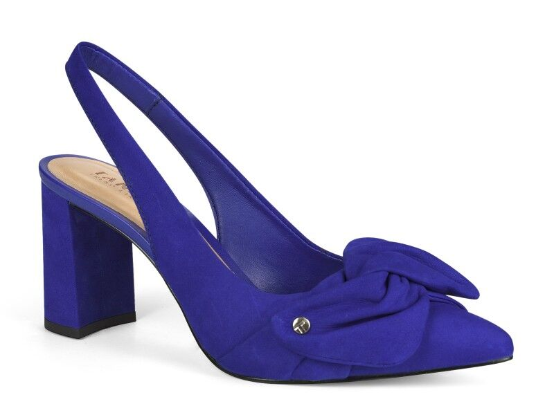 Blue Pointed Toe Bow Sandal I Women's Shoes