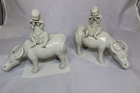 China Decorative Pair of Chinese Oxen