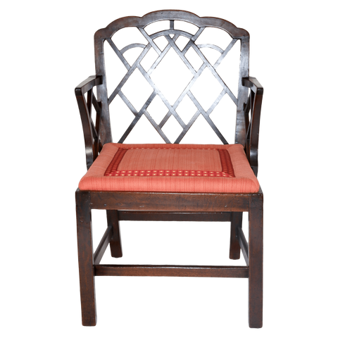 England Chairs Eight Chippendale Arm Chairs
