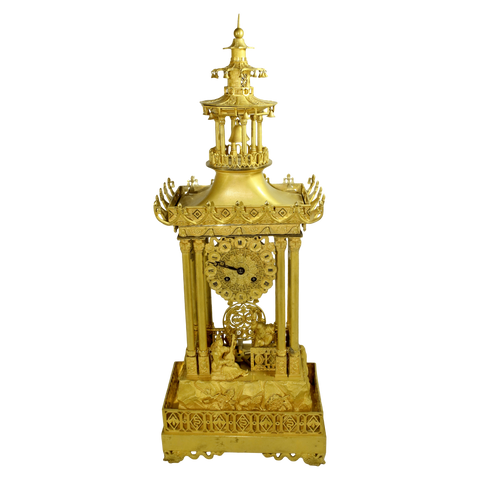 France Clock Chinoiserie Mantel Clock