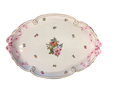 "Herend China Herend Porcelain ""Flowers Of Bermuda"" Oval Serving Platter"