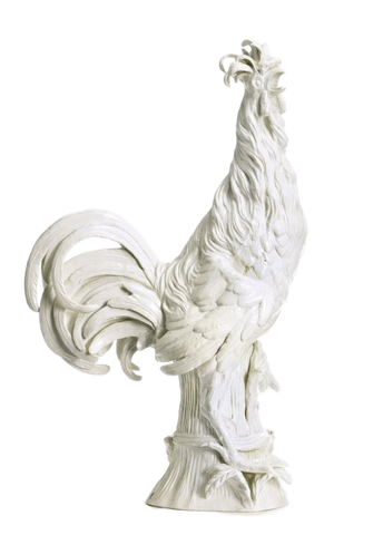 Italy Decorative Large 18th Century Porcelain Meissen Model of Padua Rooster