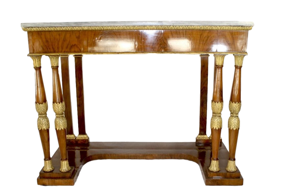 Italy Furniture Late 18th Century Italian Neoclassical Polished Birchwood  Pier Table With Grigio Orobico Marble Top ...