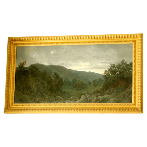 Italy Paintings 19th Century Italian Landscape Painting, Pair