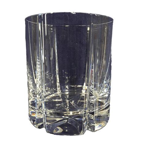"Reed and Barton Crystal Reed & Barton / Miller Rogaska ""Tulipe"" Lead Crystal Double Old-Fashioned Glass"