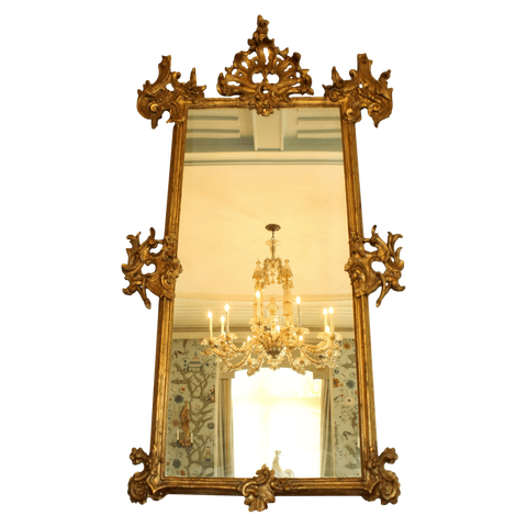 Spain Mirrors 18th Century Gilded Spanish Mirror