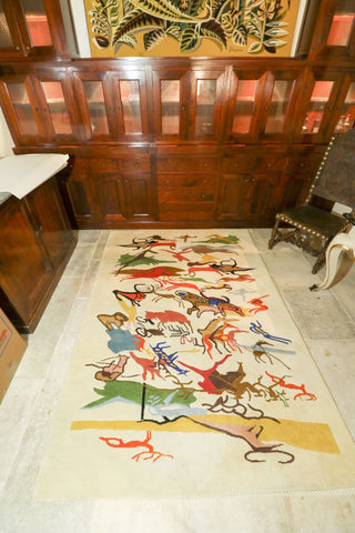 The Antique Shop Carpets Wool carpet with heiroglypic animals