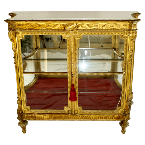 The Antique Shop Case Pieces and Storage Antique Gilded Vitrine