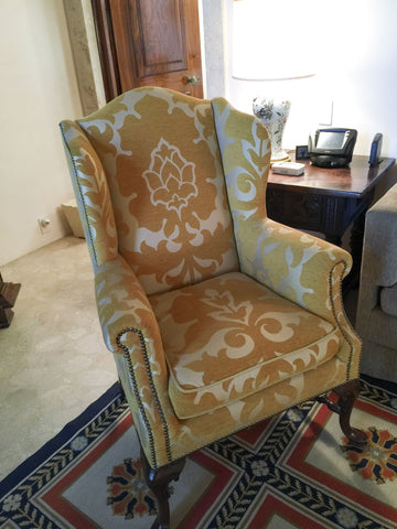 The Antique Shop Chairs White and Gold Chair