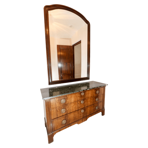 The Antique Shop Chest Large Chest of Drawers with Mirror