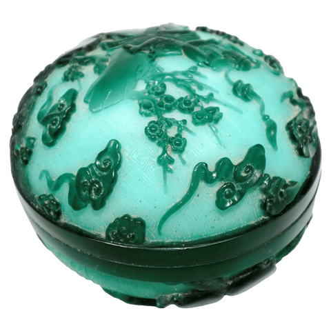The Antique Shop Decorative Green Glass Box