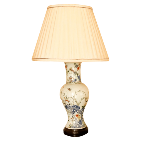 The Antique Shop Lamps Lamp with silk shade