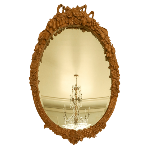 The Antique Shop Mirrors Carved Italian Wood Mirror