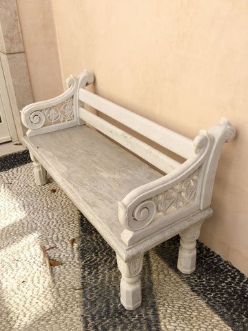 The Antique Shop Outdoor Furniture Marble Garden Bench