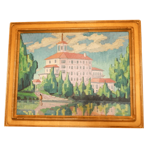 The Antique Shop Paintings Painting - Hotel by a Lake