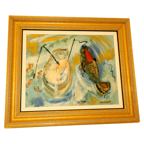 The Antique Shop Paintings Painting of Fishing