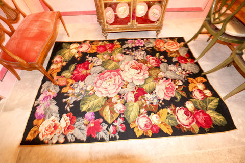 The Antique Shop Rugs and Carpets Cabbage Rose Design Rug