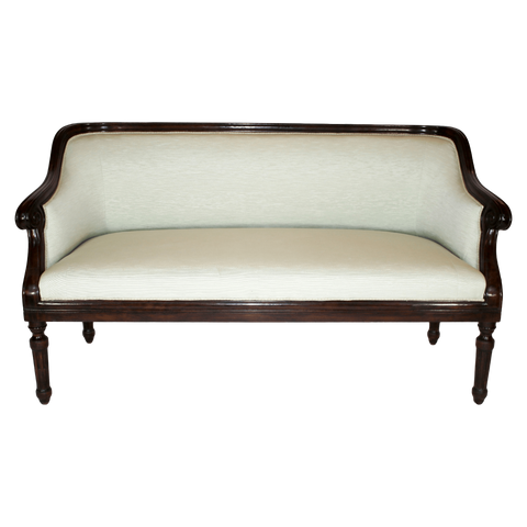 The Antique Shop Seating Carved Walnut Fram Settees, Pair