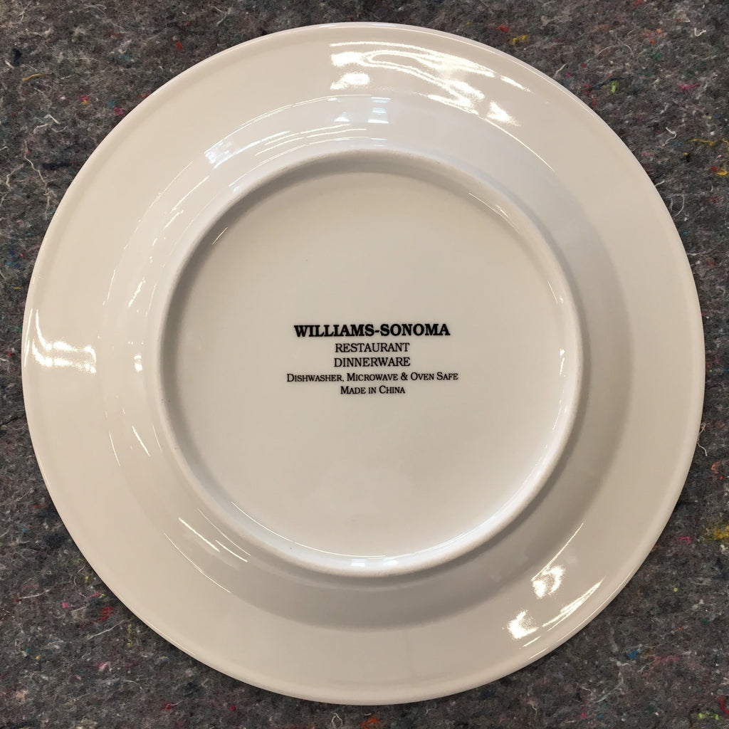 ... William-Sonoma China William-Sonoma  Restaurant Dinnerware  Salad Plate & William-Sonoma