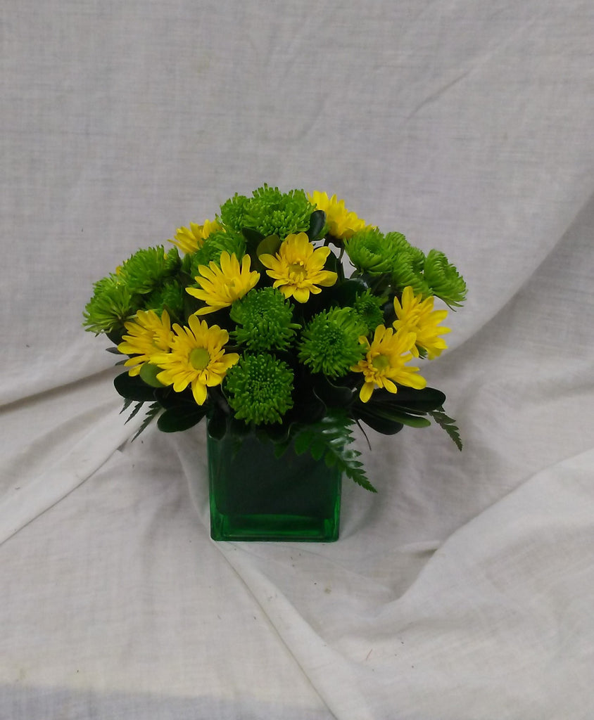 green and yellow arrangment