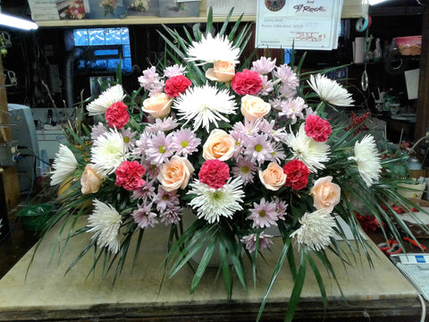 peachy fields fan shaped funeral