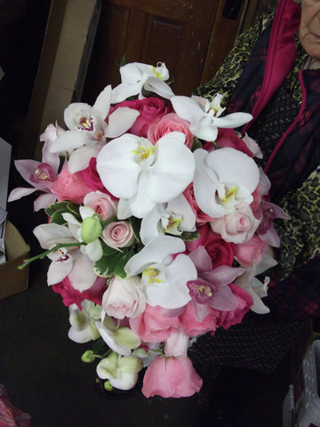 Bridal Bouquet; Orchids and Roses