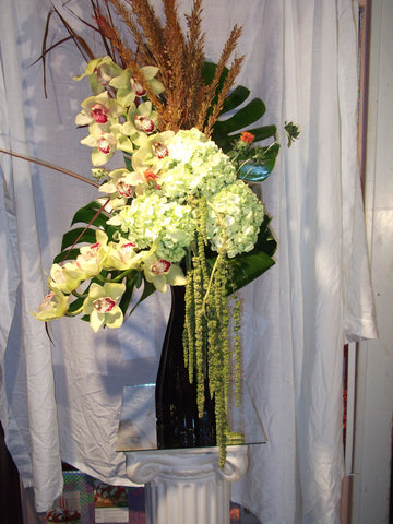 Tall Hydrangea & Exotic Arrangement